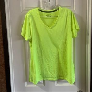 be inspired Neon Yellow/Green V Neck SS Tee XL
